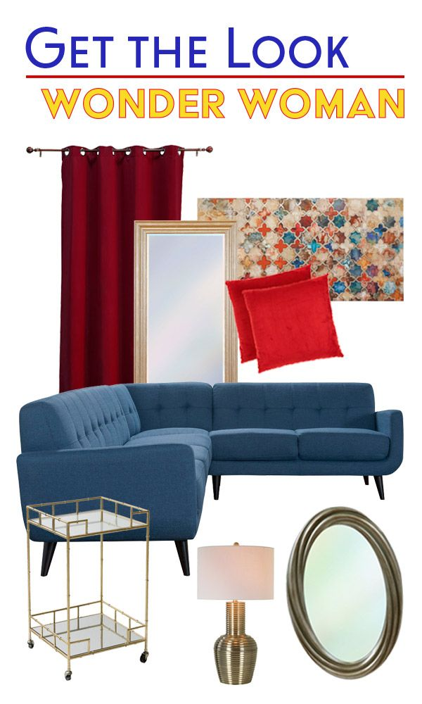 Get The Look: Wonder Woman Furniture And Decor Together To Create An  Inspired Look From