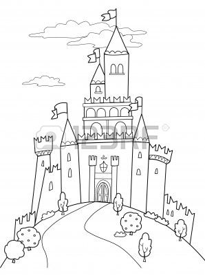 10988060-fairy-tale-illustration-black-and-white-medieval
