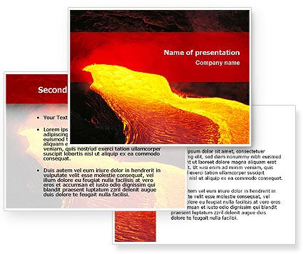 volcano lava powerpoint template with volcano lava powerpoint, Modern powerpoint