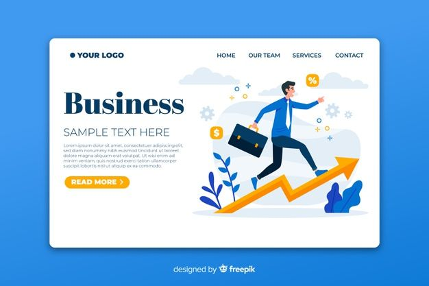 Download Flat Business Landing Page Template For Free In 2020 Page Template Landing Page Templates