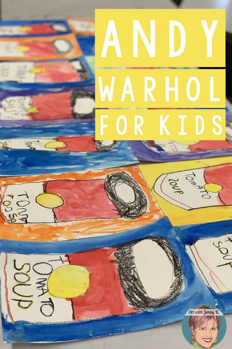 Andy Warhol For Kids | Campbell's Soup Can Art Project