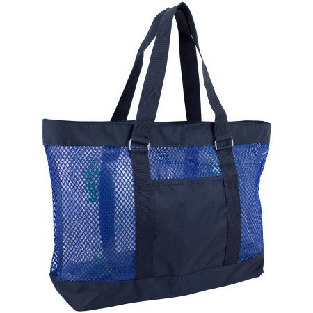 Eastsport Mesh Beach Tote Bag, Women's, Blue | Beaches, Mesh and ...