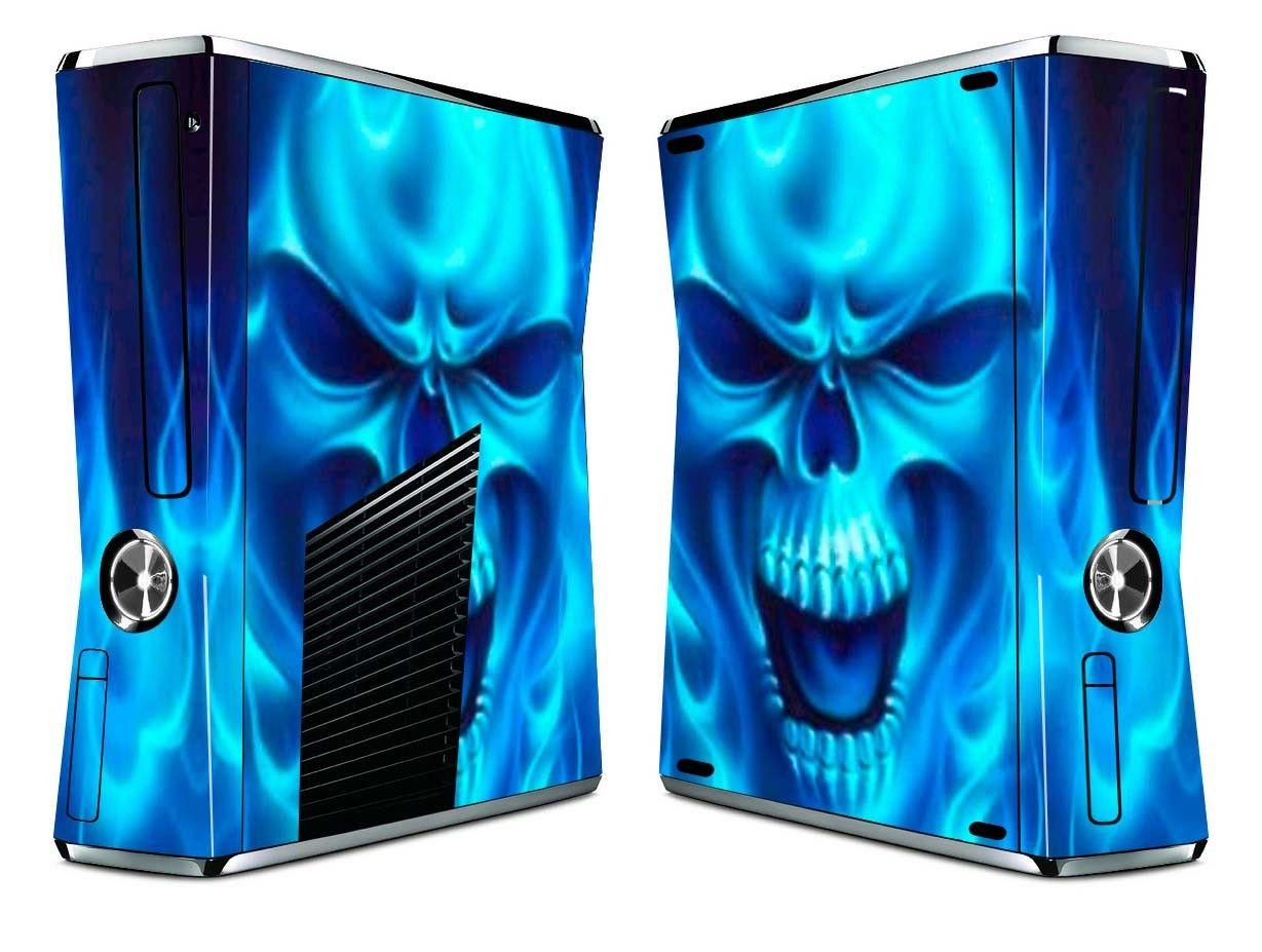 Vinyl Skin Sticker Xbox 360 S Slim Cover Blue Skull $9.99 ... Xbox 360 Console Skins
