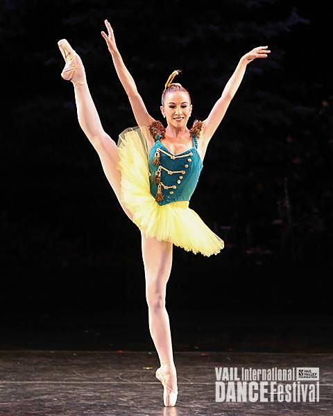 Isabella Boylston in Balanchine's Stars and Stripes - Photo by Erin Baiano.