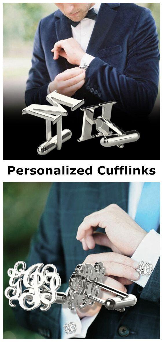 Mens Jewelry fashion jewelry designers Cufflinks with Initial