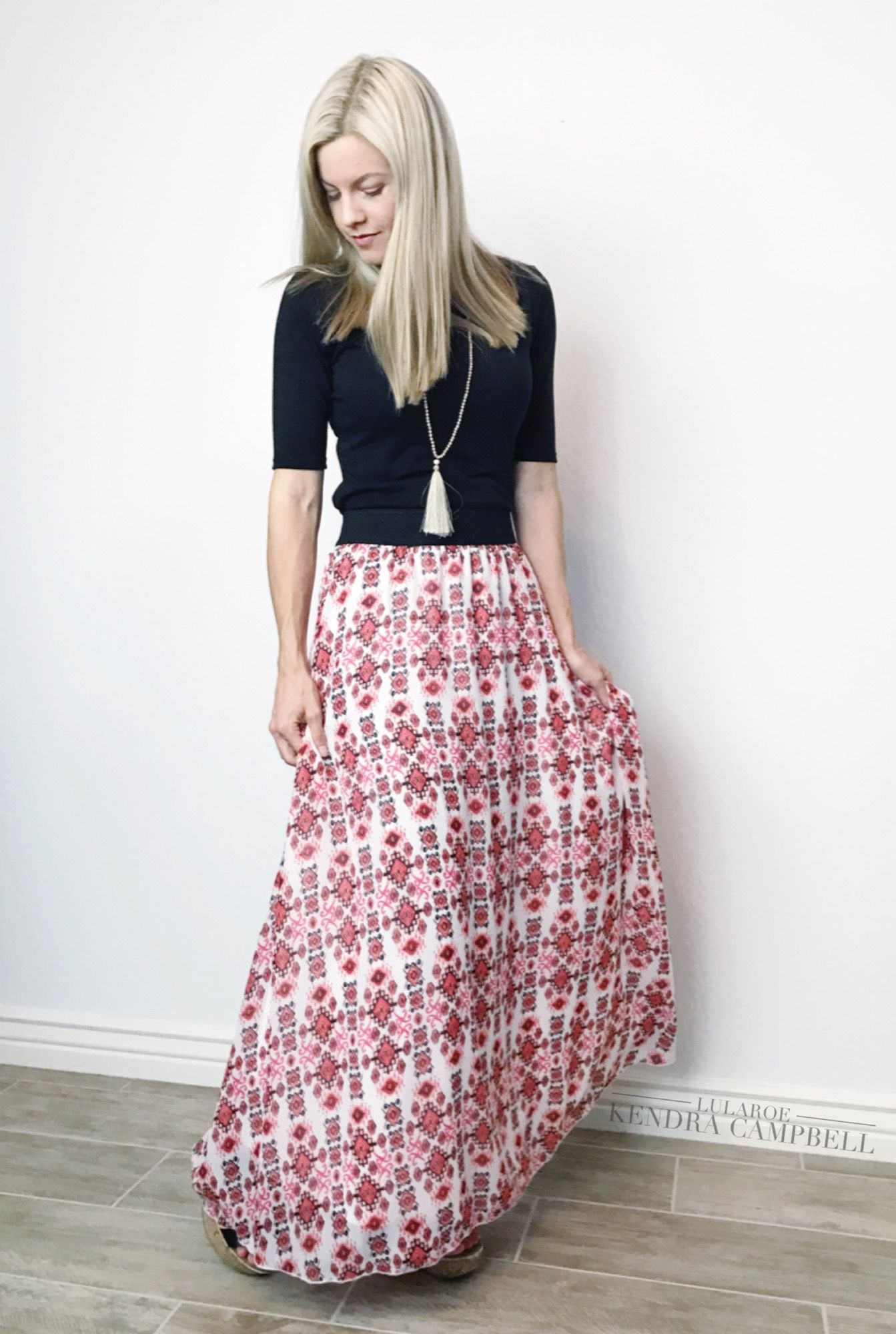 My Favorite LuLaRoe Lucy Skirt Paired With A Solid Black Julia Dress Fits