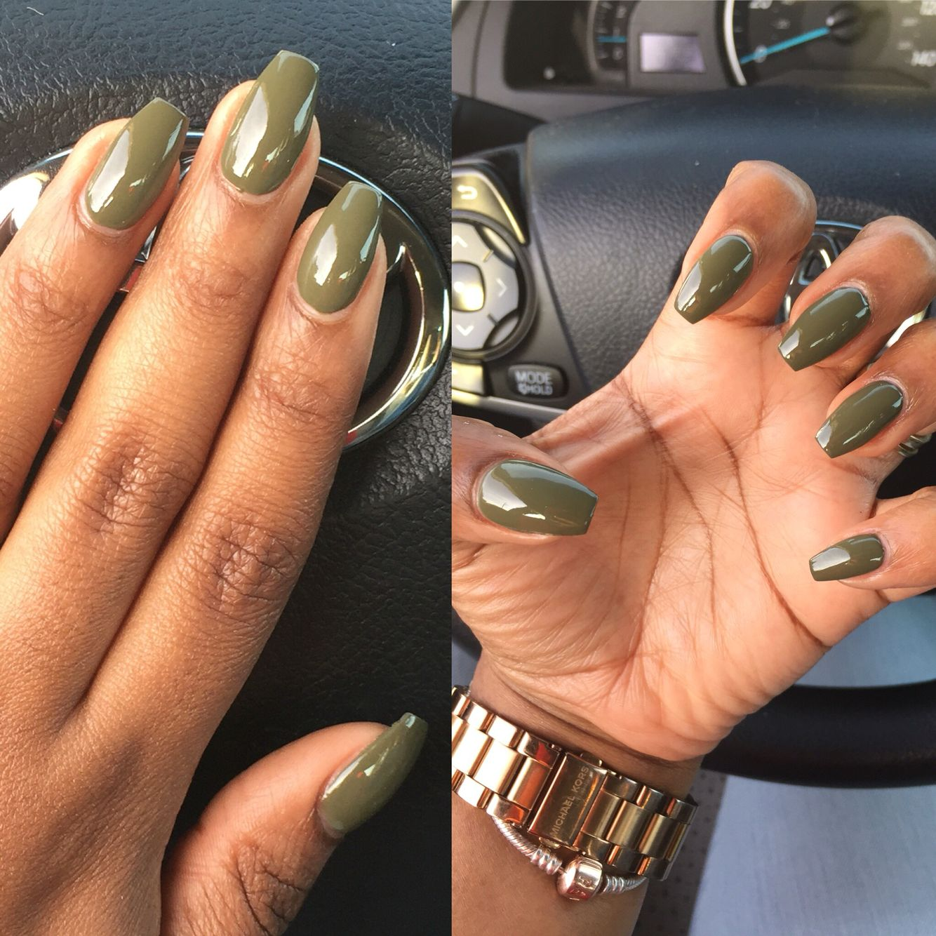 Opi Uh Oh Roll Down The Window Love This Olive Color By Opi Colors For Dark Skin Skin Hand Olive Nails