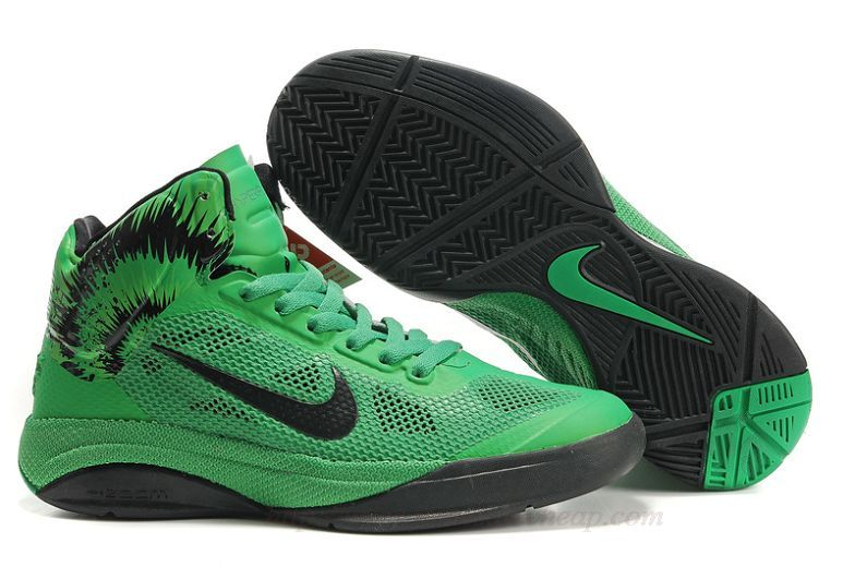 Nike Zoom Hyperfuse XDR Mens Green Black Cheap For Sale No.9152