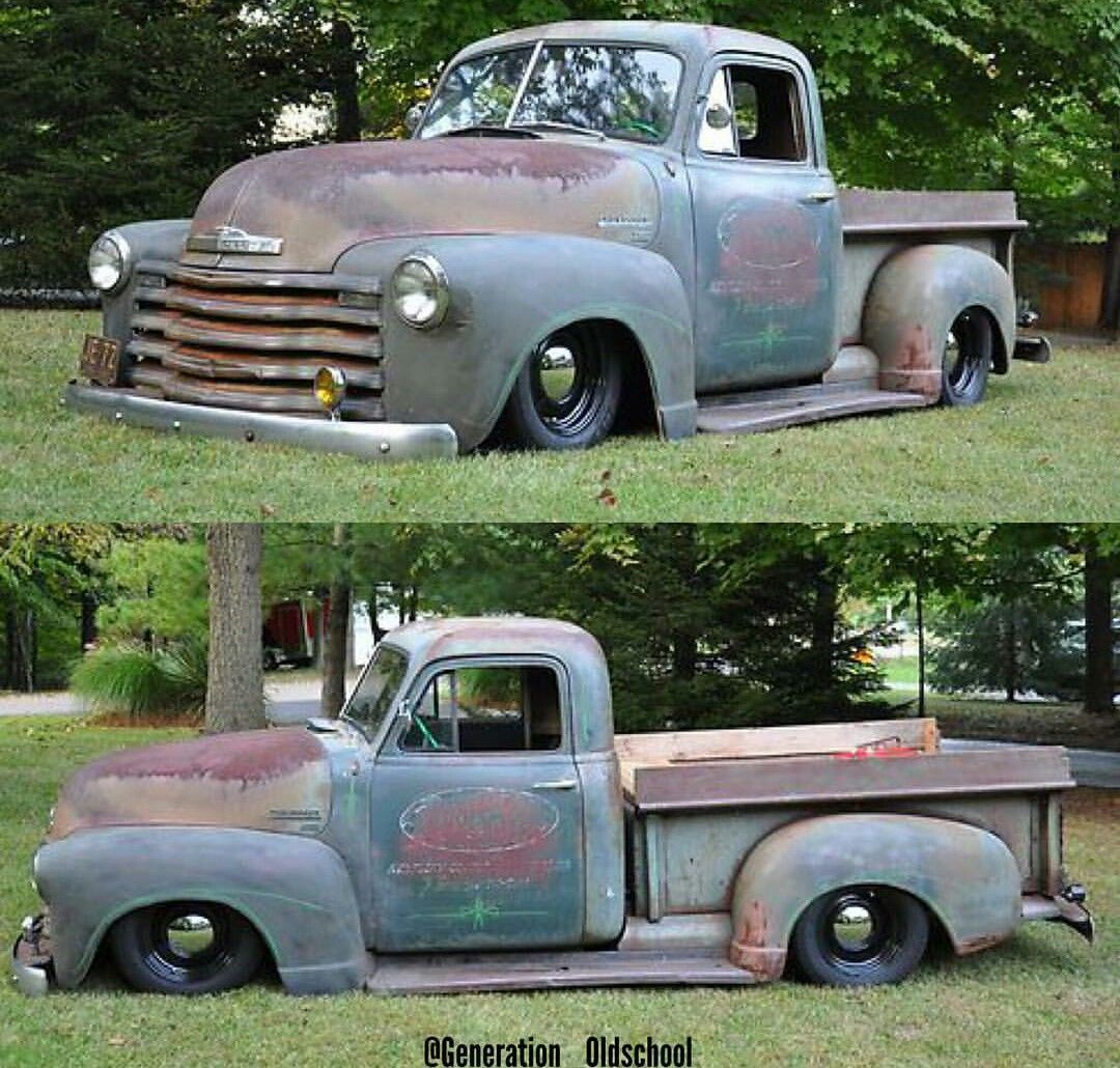 1955 chevrolet hot rod truck pictures to pin on pinterest - Chevy Pickups More