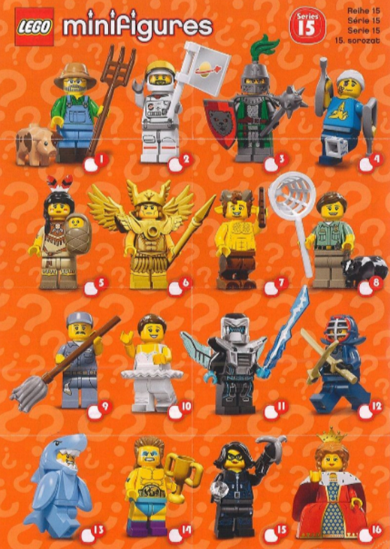 A Visual Guide And Checklist For Lego Blind Pack Minifigure Series 1 17 And Other Sets From Newest To Oldest Update Lego Minifigures Mini Figures Lego