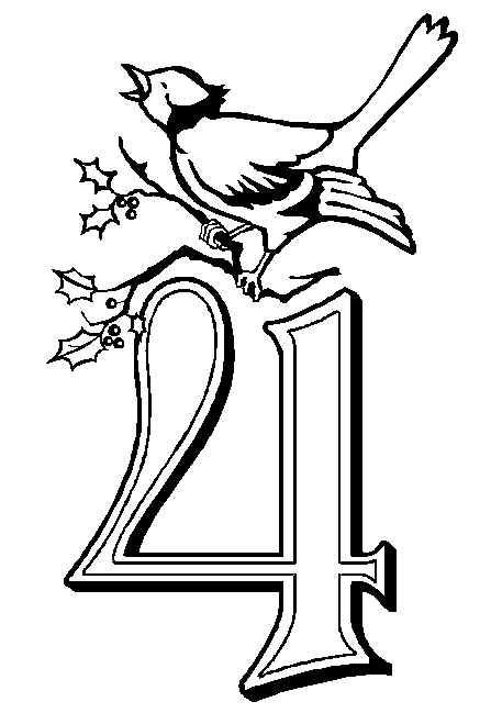 04 calling birds coloring page