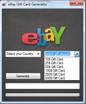 free ebay gift card code generator online no survey