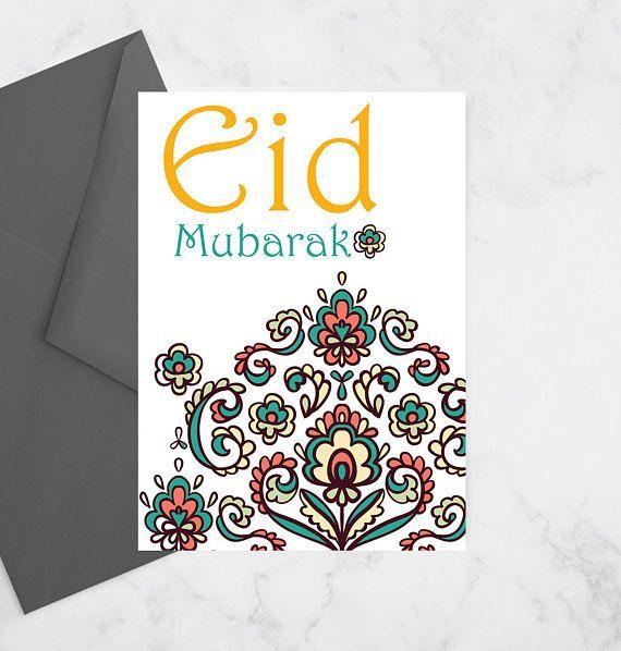 Floral Eid Card Eid Mubarak Card Happy Eid Card Eid Greeting Card Eid Greetings Eid Greeting Cards Eid Mubarak