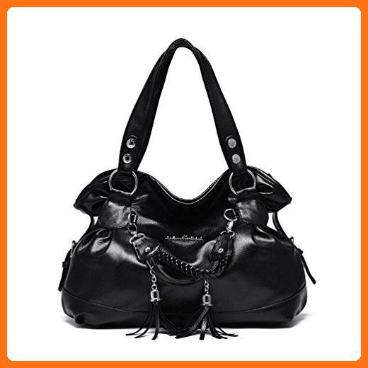823f9a870c XibeiTrade Women Soft Top Handle Purse Shoulder Handbag (Black) - Shoulder  bags ( Amazon Partner-Link)