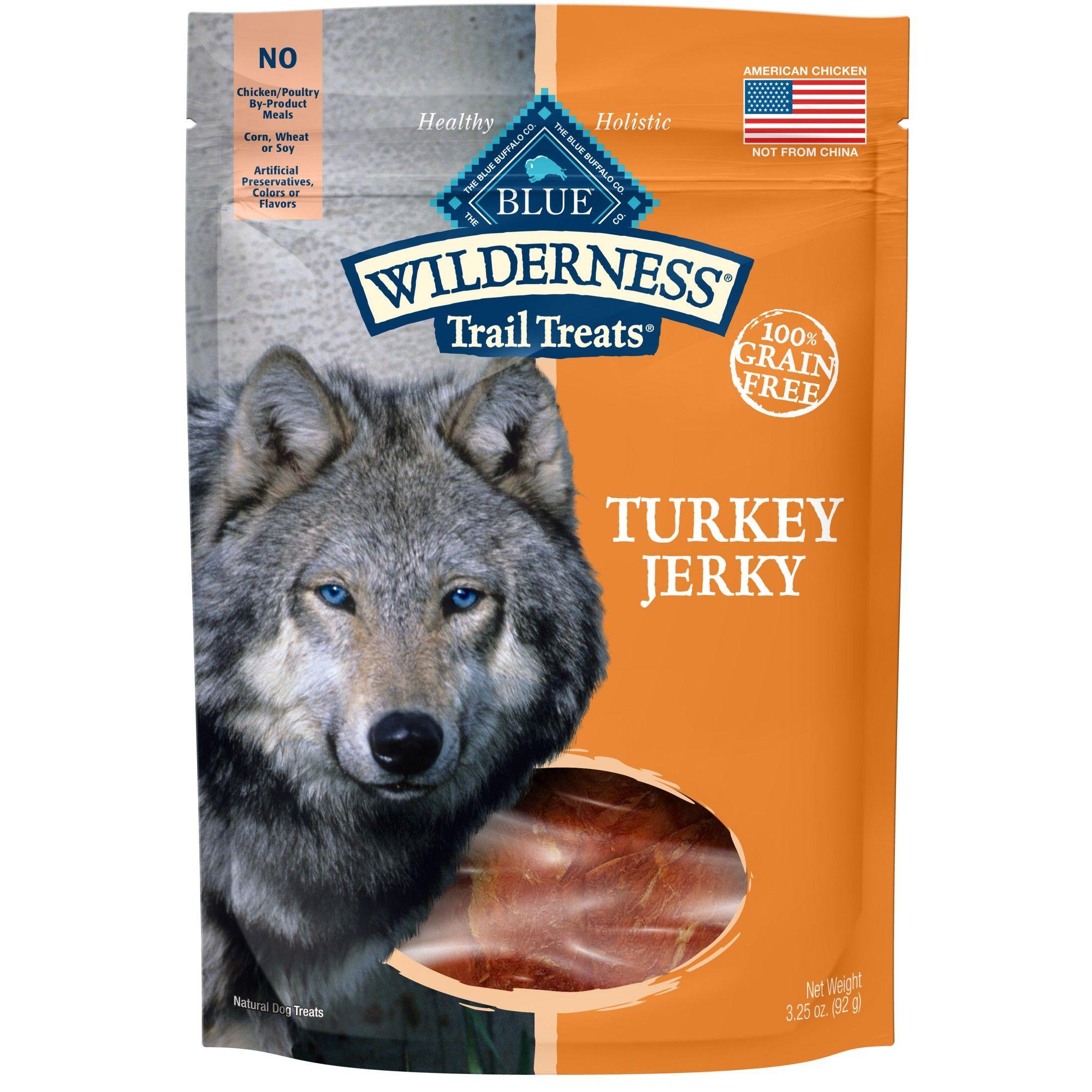 Blue Buffalo Wilderness 100 Grain Free Turkey Jerky Dog Treats