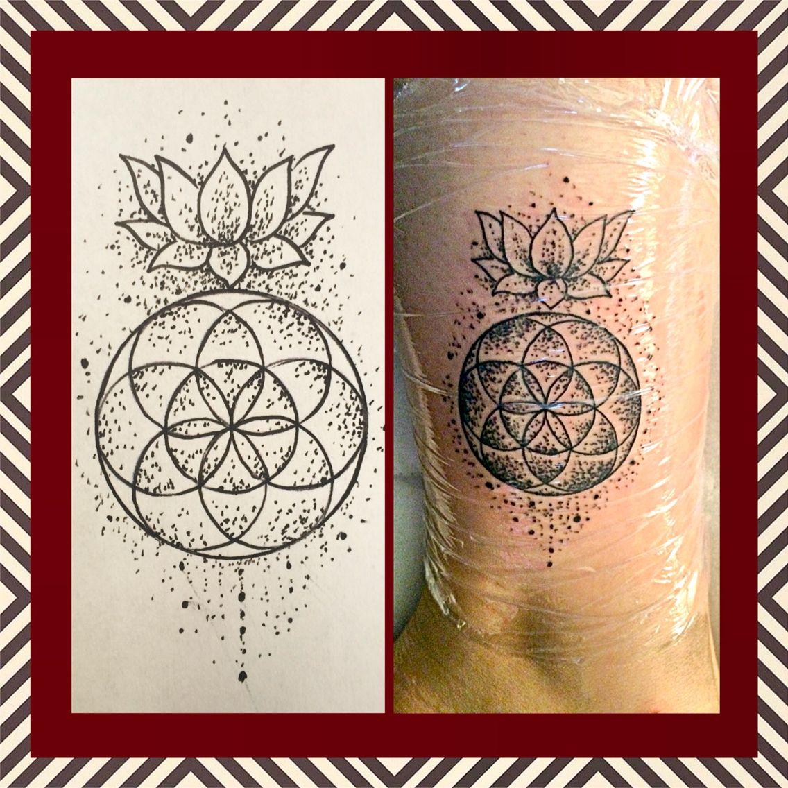 lotus tattoo my tattoo flower of life tattoo unique tattoo tattoos pinterest lebensblume. Black Bedroom Furniture Sets. Home Design Ideas