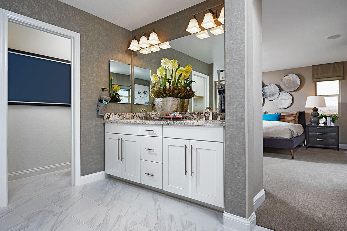 this dual vanity | Lawson model home master bath | Las ...