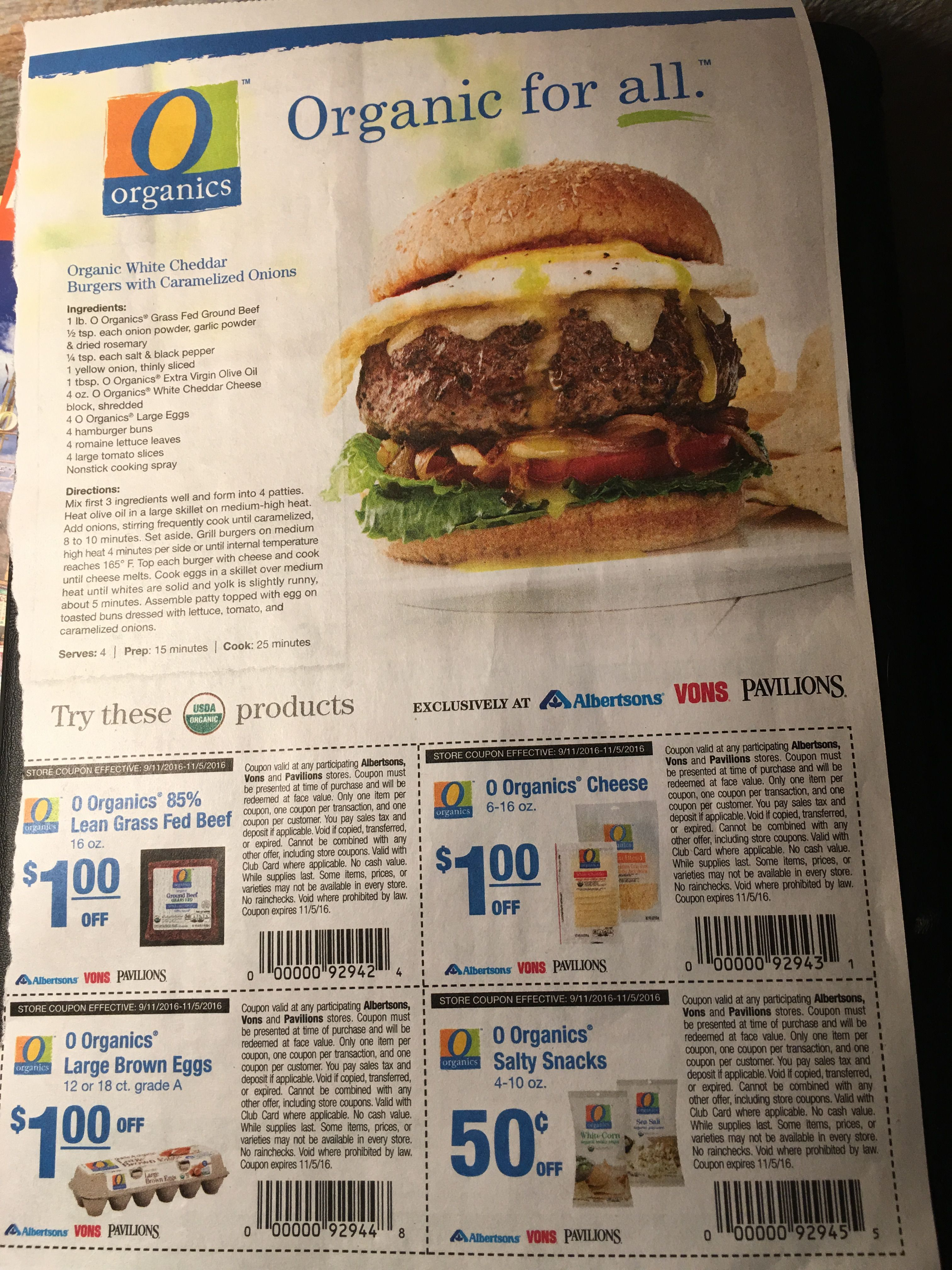 First time I've seen a whole page with just organic in the coupon section