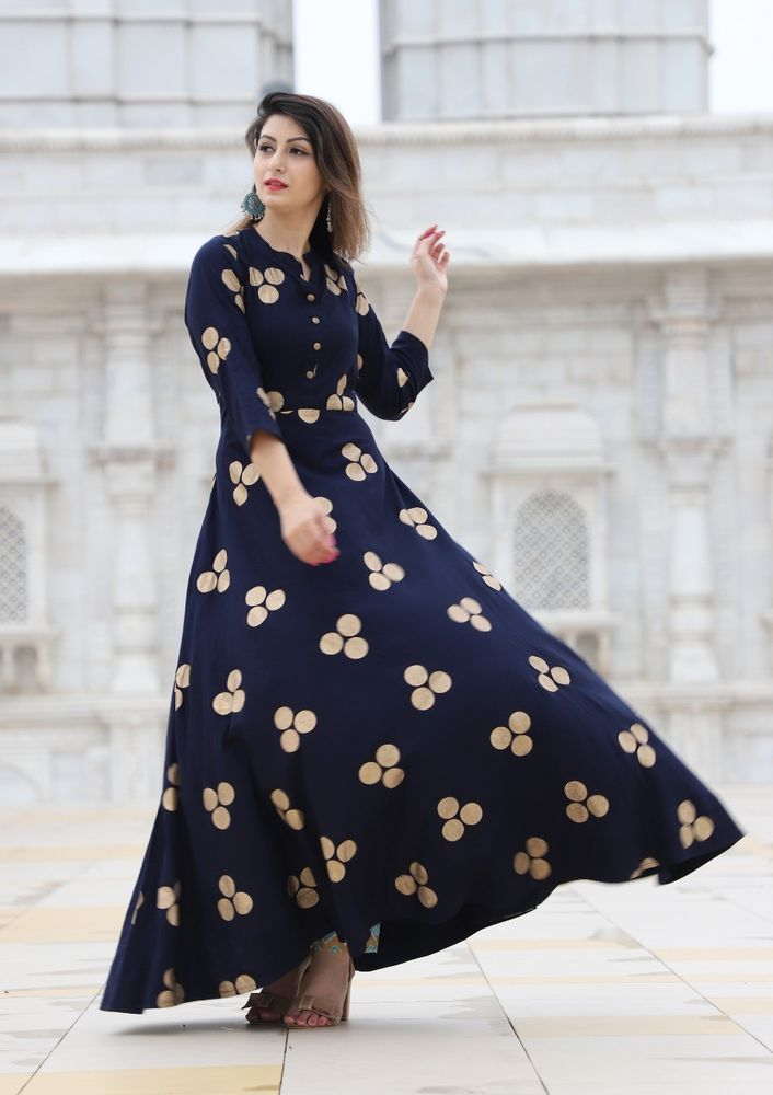 Indian Bollywood Designer indo western gown Kurta Kurti women ethnic dress op22