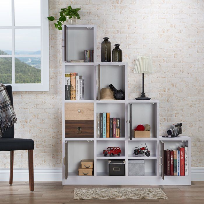 Adriane Step Bookcase Contemporary Bookcase Bookcase Furniture Of America