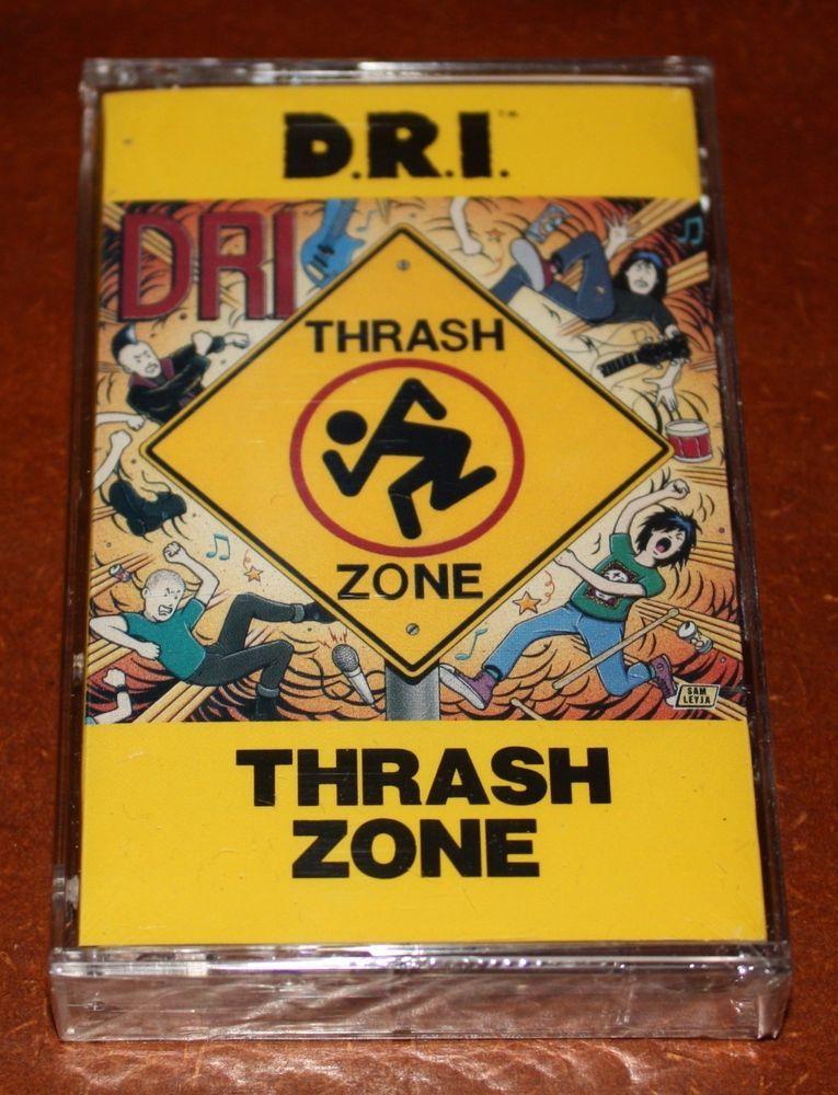 "D.R.I. ""Thrash Zone"" original cassette tape with promo"