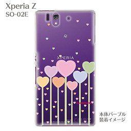 露天拍賣 日本究極!日本製【Sony Xperia Z SO-02E手機保護殼 背蓋 透明系列】北歐風格 愛心朵朵
