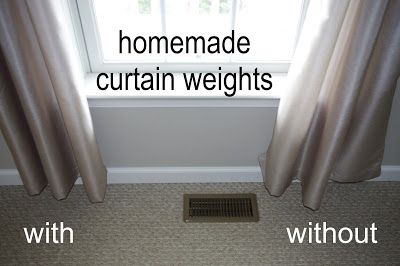 Homemade Curtain Weights What Post It Notes Pennies And