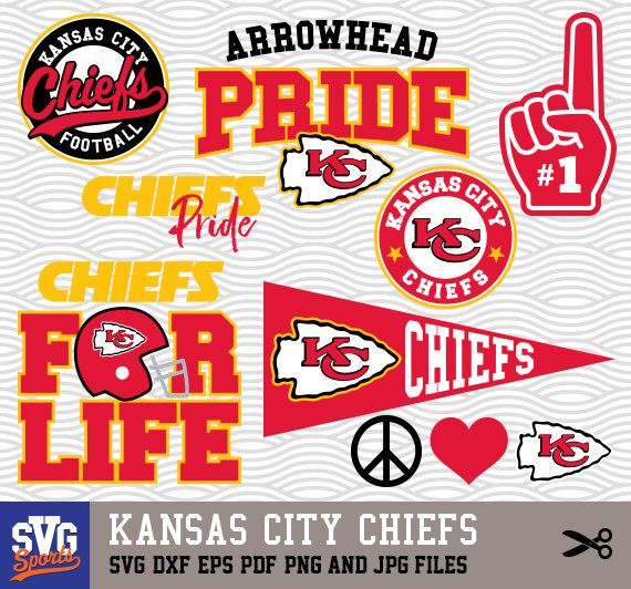 Kansas City Chiefs Svg Logos Monogram Silhouette Cricut Cameo Screen Printing Sp 20 Kansas City Chiefs Logo Kansas City Chiefs Chiefs Logo