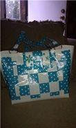 Purse  http://duckbrand.com/Duck%20Tape%20Club/ducktivities/purses-and-handbags/blue-and-white-polka-dot-purse