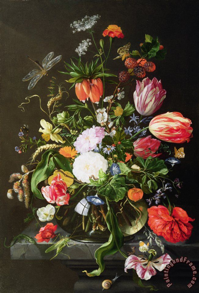 Still Life of Flowers Painting by Jan Davidsz de Heem