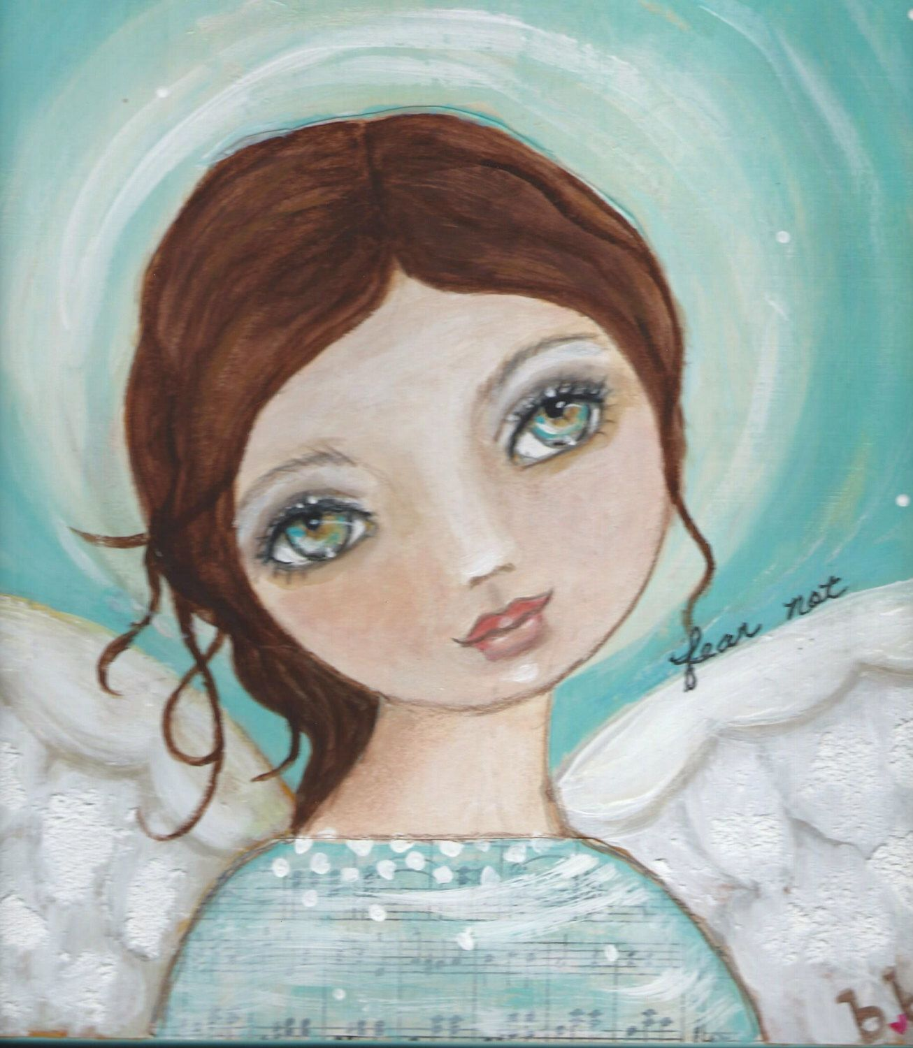 Fear Not Mixed media original painting Angel by bb by bonnesinger on Etsy https://www.etsy.com/listing/219267465/fear-not-mixed-media-original-painting