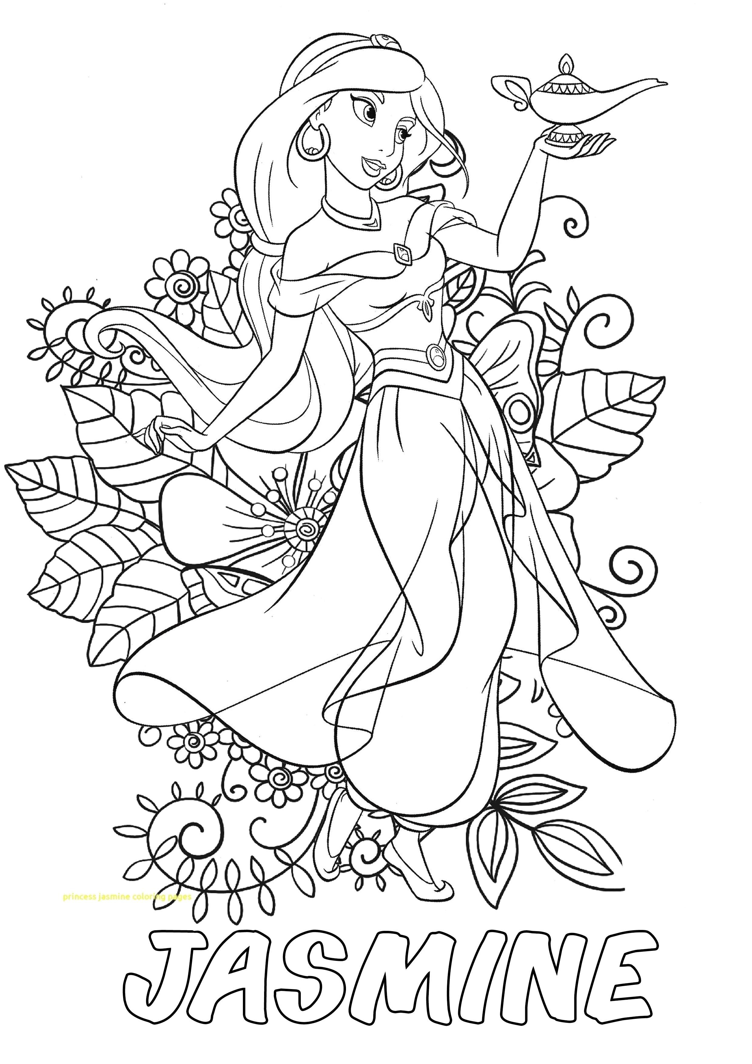 Hello Kids This Is A Beautifull Jasmine With Flower Background To You Don T Forg Disney Coloring Pages Princess Coloring Pages Disney Princess Coloring Pages