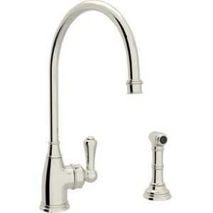 Rohl Single Lever Single Hole Kitchen Faucet With Sidespray Prepossessing Single Hole Kitchen Faucet Decorating Inspiration