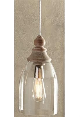 99c5db18712 Glass Bell Pendant Lamp with Clear Cord