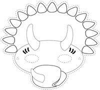 Dinosaur Masks For Kids Printable Dinosaur Mask Color