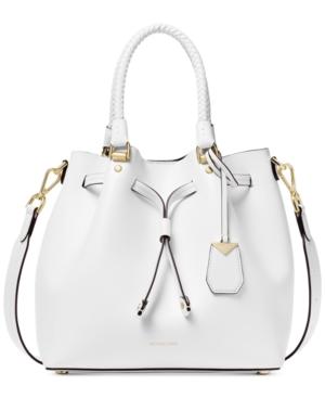 cb53782fbbf9 Michael Michael Kors Blakely Medium Bucket Bag - White