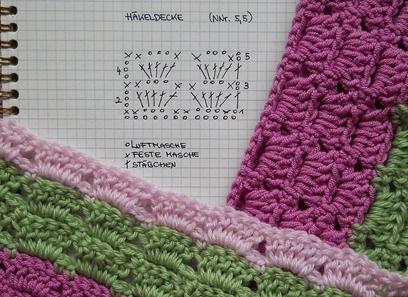 pretty stripey blanket with diagram   Häkelmaschen   Pinterest ...