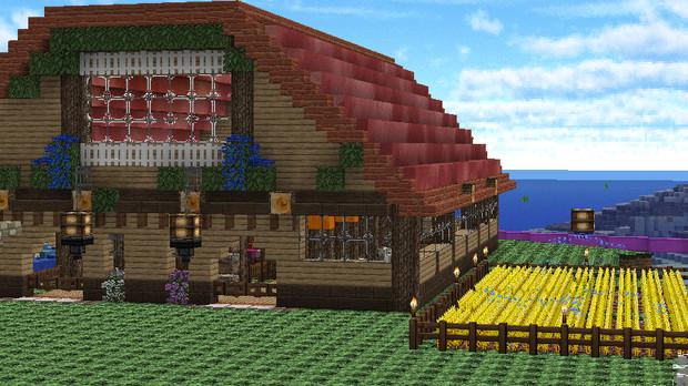 Minecraft マイクラで牧場生活 羊厩舎完成 くまみみ さんの