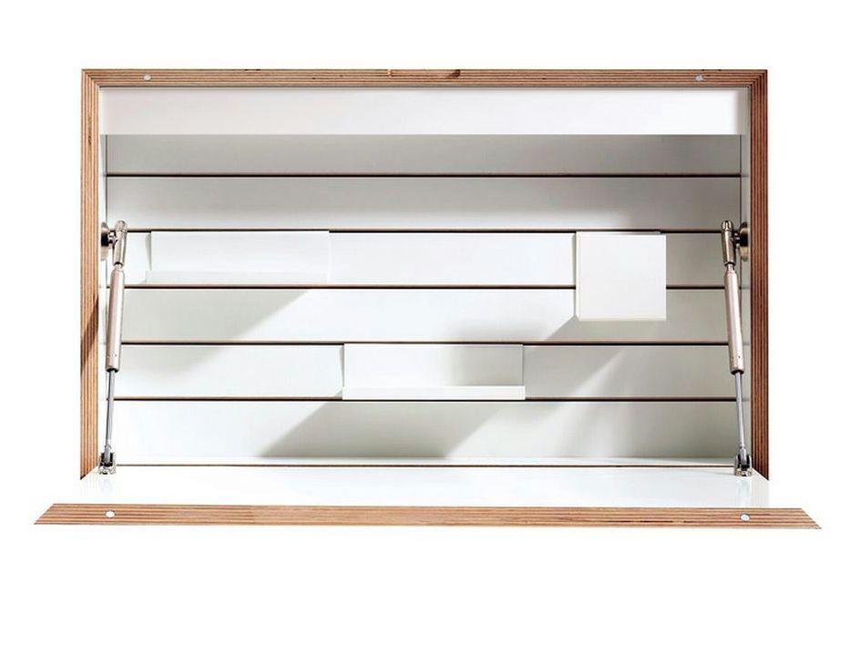 Secreter de madera para PC FLATBOX by Müller Möbelwerkstätten diseño Michael Hilgers