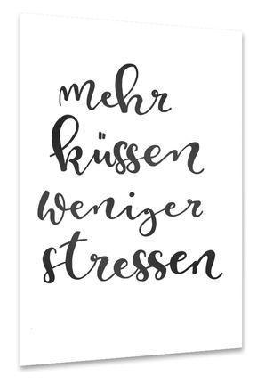 Mehr Küssen Poster - Flur ideen #flurideen
