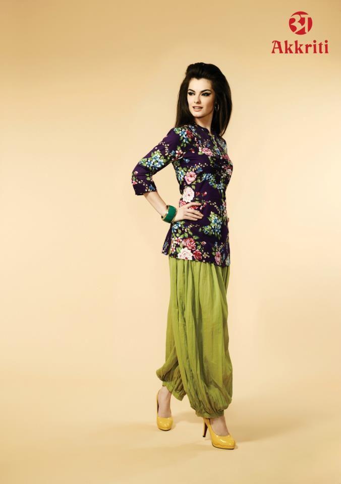 f9433e7c87e45 Harem pants with kurti