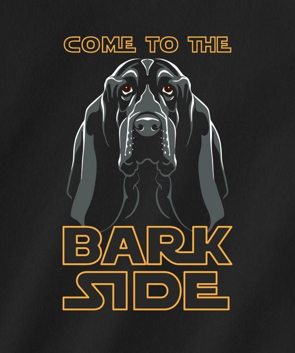 Bark Side T Shirt Basset Hound Dog Basset Hound Art Basset Hound