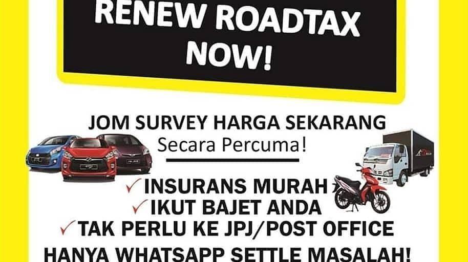 Renew Insuran Takaful Dan Roadtax Kenderaan Paling Murah Cepat Mudah Nak Takaful Insuran Sahaja Nak Sekali Road Budgeting Insurance Agent Malaysia