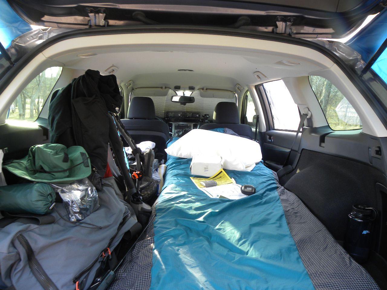 subaru outback camping camping vehicles car camping