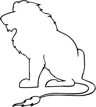 Pin By Lina Villanueva On Interesting Designs Lion Coloring Pages Animal Stencil Animal Outline Check out our sitting lion selection for the very best in unique or custom, handmade pieces from our shops. lion coloring pages