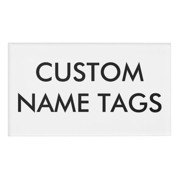 Custom Personalized Large Name Tag Blank Template Custom Nametags - Small name tag template