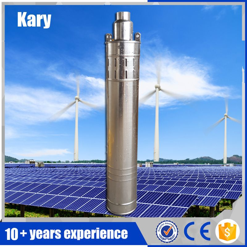 Kary Factory Outlet 80m Lift 1 Hp 24v Dc Submersible Solar Water Pump For Deep Well Built In Controller Solar Screw Pump Solar Water Pump Water Pumps Solar