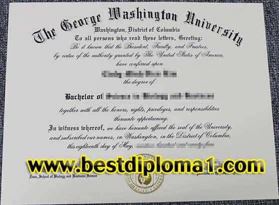Bachelor of George Washington University fake diploma, buy G_buy - george washington resume