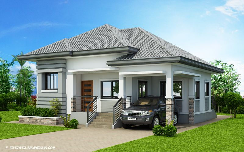 The House In Off White And Grey Shades Has Clean With Refined Edges This Begild Modern Bungalow House Plans Modern Bungalow House Modern Bungalow House Design