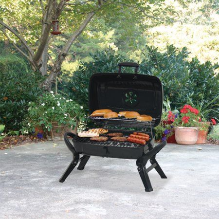 Uniflame 184 sq. inch;Portable Charcoal Grill, Black